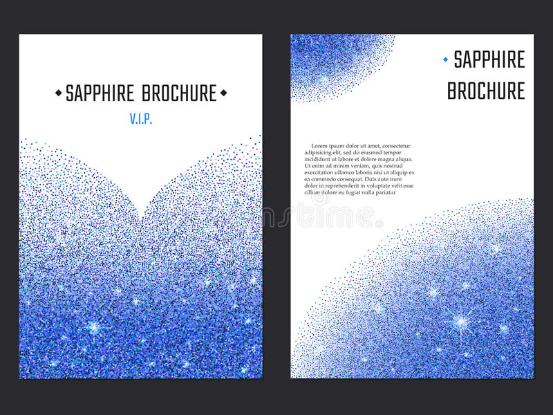 Sapphire Brochure Template stock de ilustración