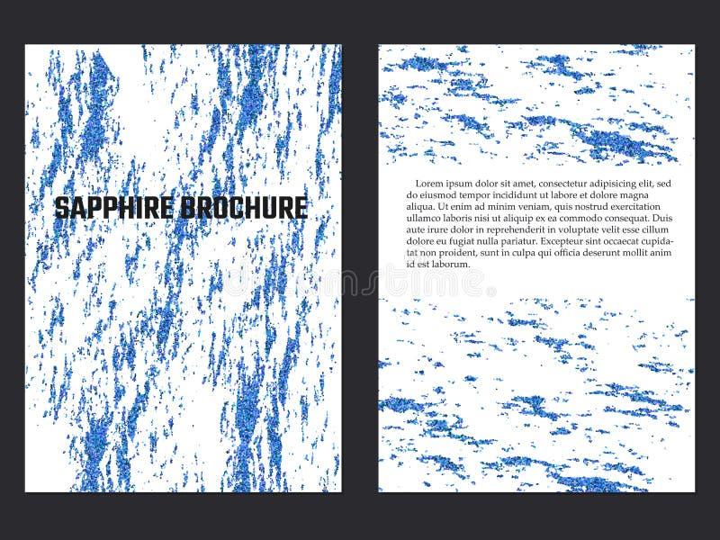 Sapphire Brochure Template ilustración del vector