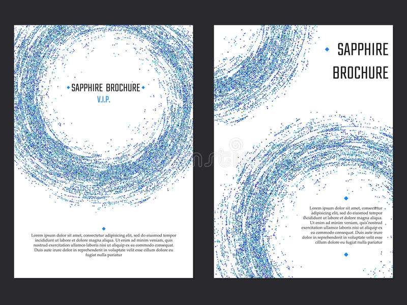 Sapphire Brochure Template libre illustration