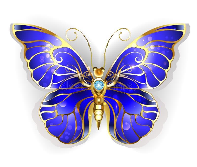 Sapphire Butterfly ilustração royalty free