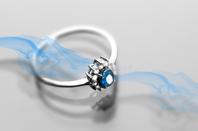 Sapphire Ring royalty free stock image
