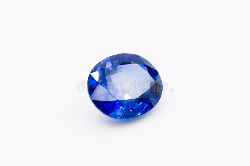 Sapphire on white background, Blue sapphire Blue gems, Gem, Blue royalty free stock image
