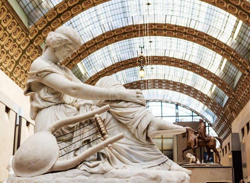 Sappho de Jean Jacques Pradier ` Orsay de Musee d parís fotos de archivo