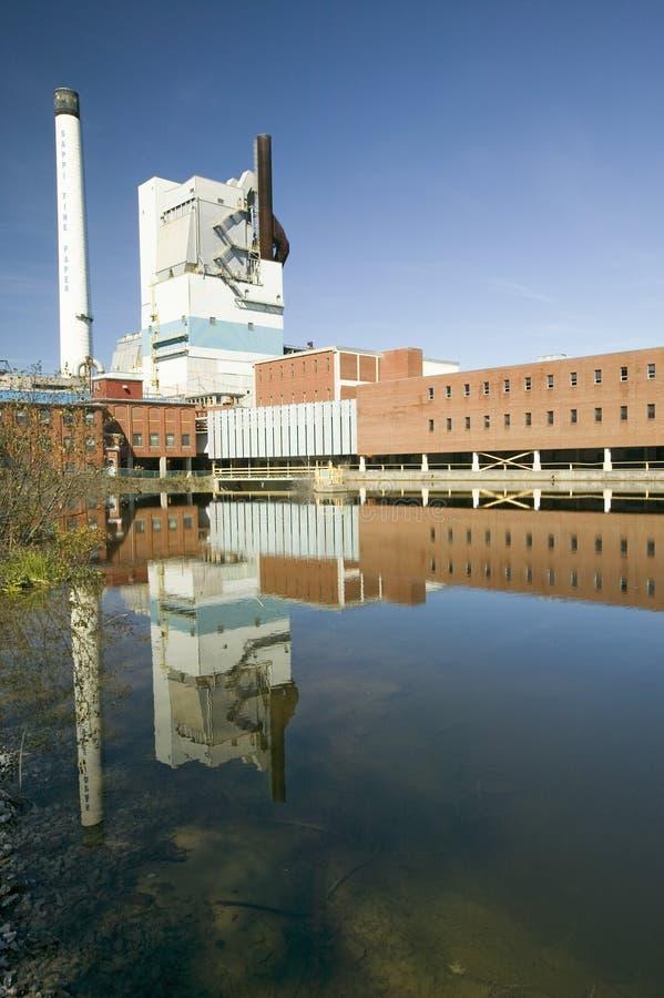 Sappi verurteilen Papier Nordamerika ist der führende Produzent überzogenen woodfree Papiers im U S , Somerset Plant in Skowhegan lizenzfreies stockfoto