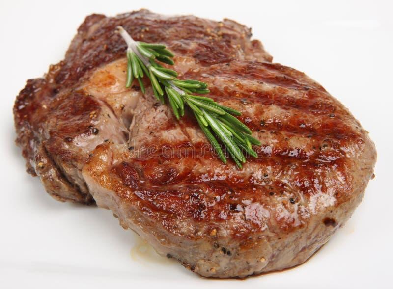 Sappig het rib-Oog van het Rundvlees Lapje vlees stock afbeeldingen
