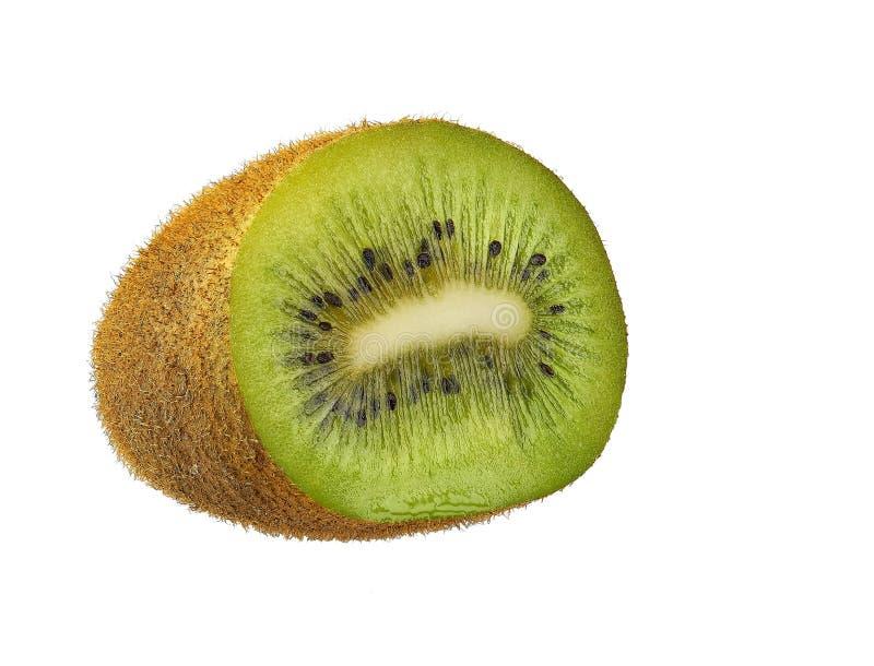 Sappig kiwifruit dat op witte achtergrond wordt geïsoleerd stock foto's