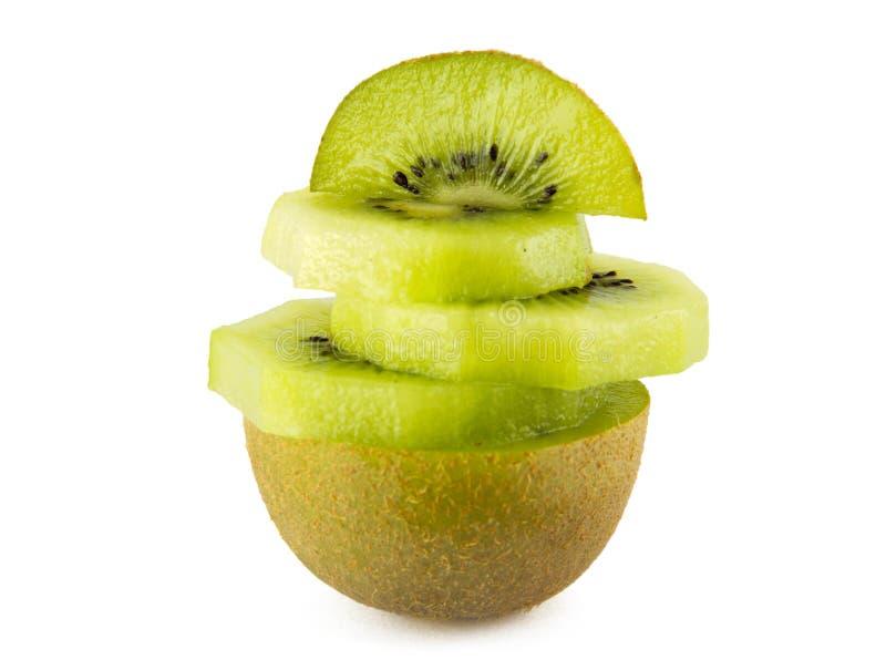 Sappig kiwifruit dat op witte achtergrond wordt geïsoleerd stock afbeeldingen