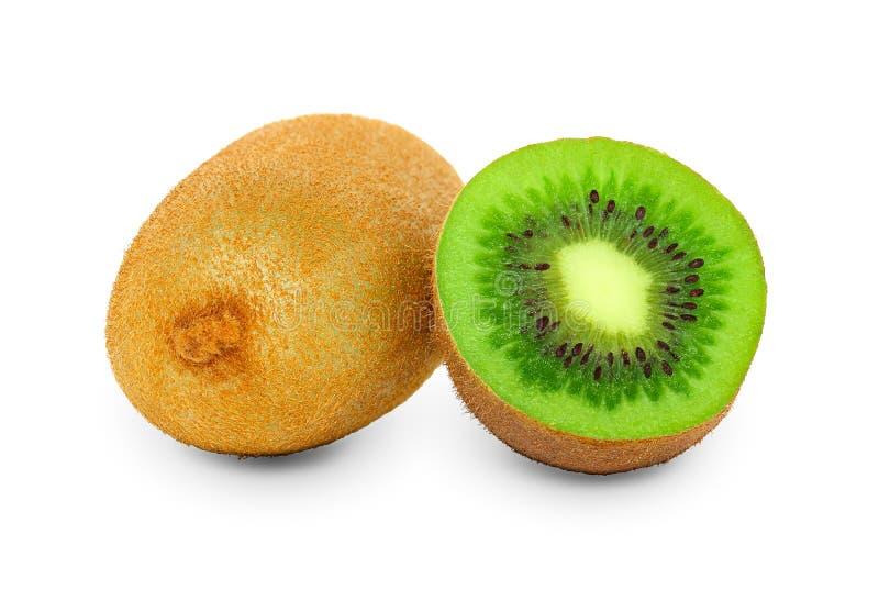 Sappig kiwifruit dat op witte achtergrond wordt geïsoleerd royalty-vrije stock afbeelding