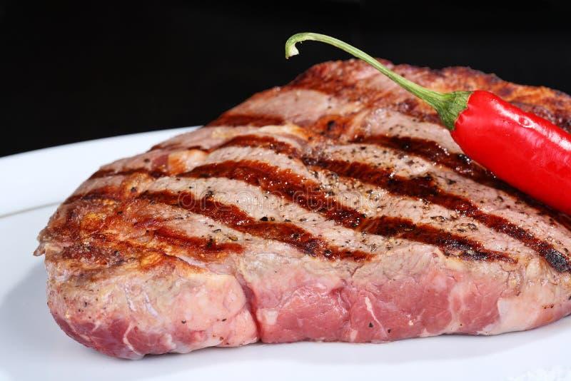 Sappig rundvleeslapje vlees stock foto's