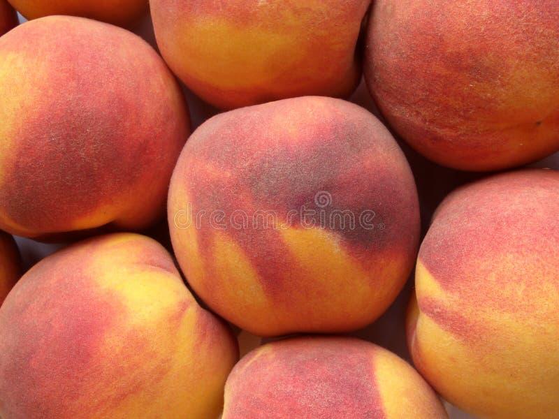 Sappige perziken stock afbeeldingen