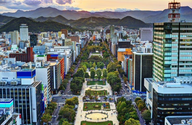 Sapporo bij Odori-Park stock foto's