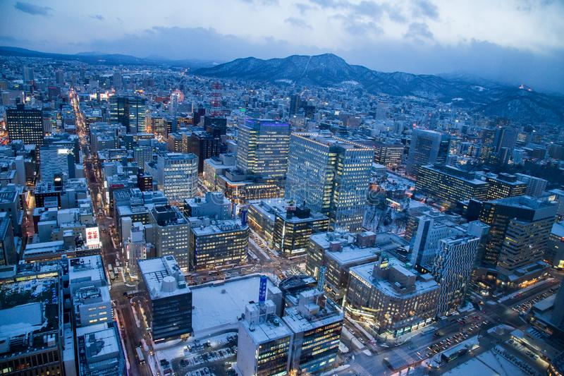 Sapporo cityscape urban landscape royalty free stock photography