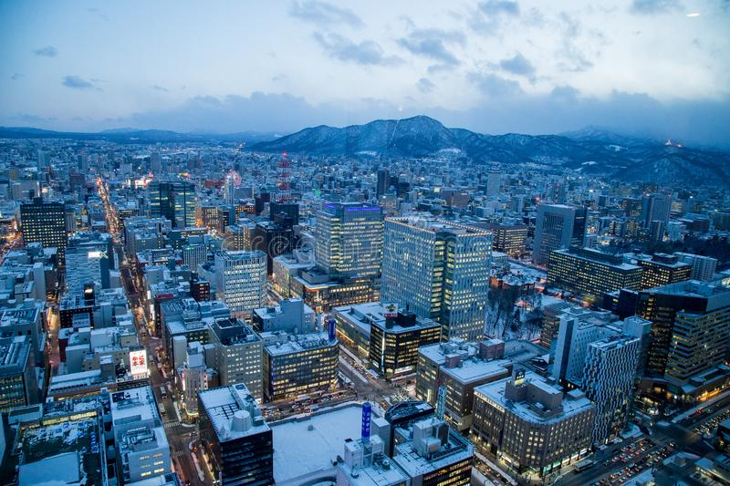 Sapporo cityscape urban landscape royalty free stock photos