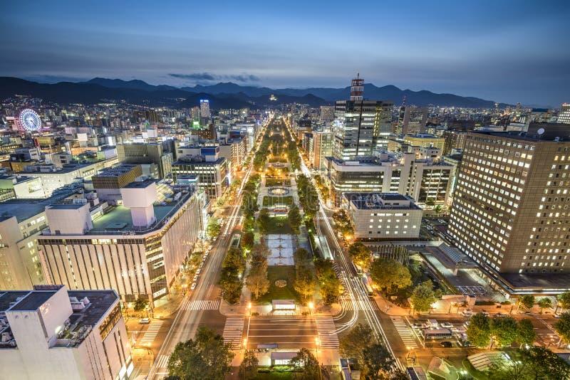 Sapporo, de Stadshorizon van Japan royalty-vrije stock afbeelding
