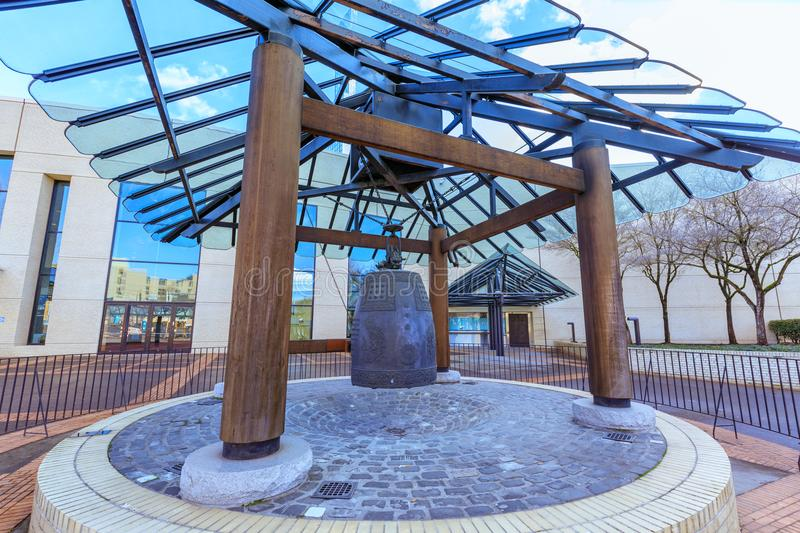 Sapporo Friendship Bell, located outside the Oregon Convention C stock photo