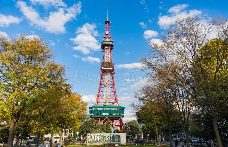 Sapporo, Japón: 17 de octubre de 2017 - la torre de Sapporo TV en olor fotografía de archivo