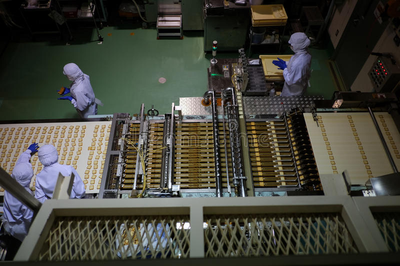 SAPPORO,JAPAN - APRIL 27: Ishiya, chocolate factory on APRIL 27,. 2015 in Hokkaido. The company's flagship product is the Shiroi Koibito cookie royalty free stock image