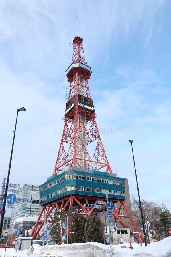 Sapporo, Japan - 20. Januar 2017: Ansicht des Sapporo Fernsehturms stockfotos