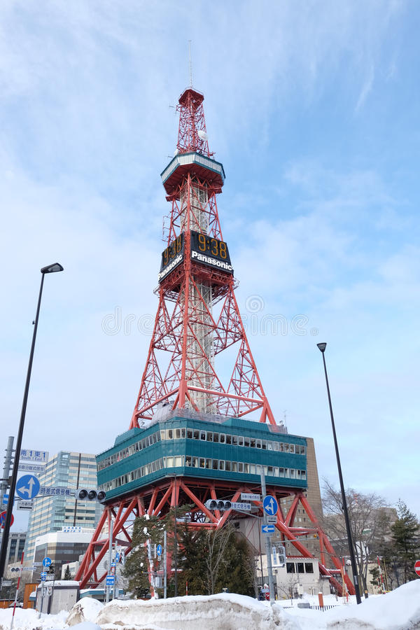 Sapporo, Japan - january 20, 2017 : View of the Sapporo TV Tower stock photos