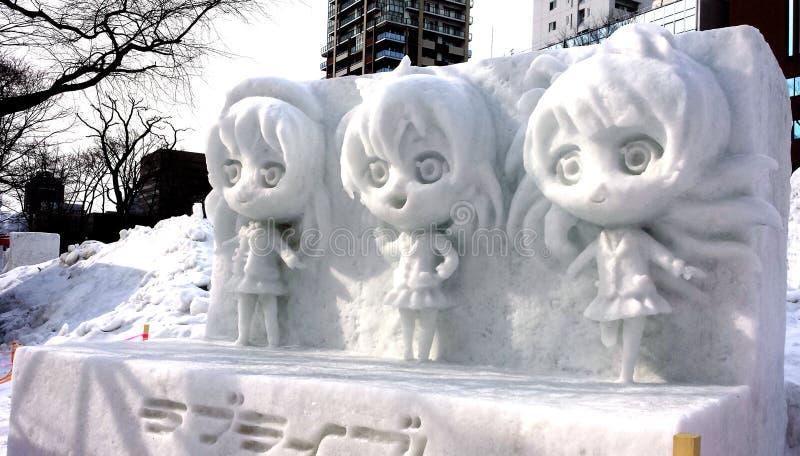 Sapporo-Schnee-Festival stockfotografie