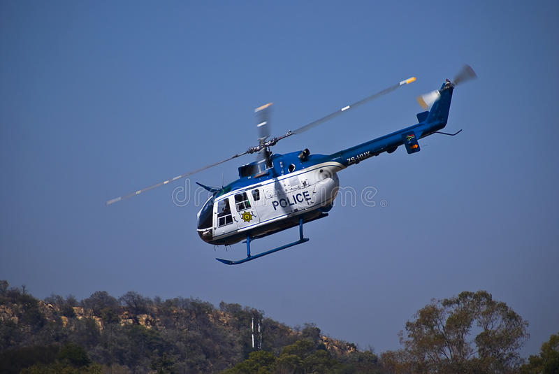 SAPS Helicopter - ZS-HUX royalty free stock images
