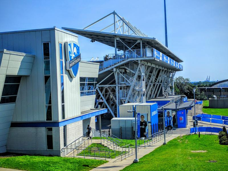 The Saputo Stadium of Montreal Impact of Canada royalty free stock image