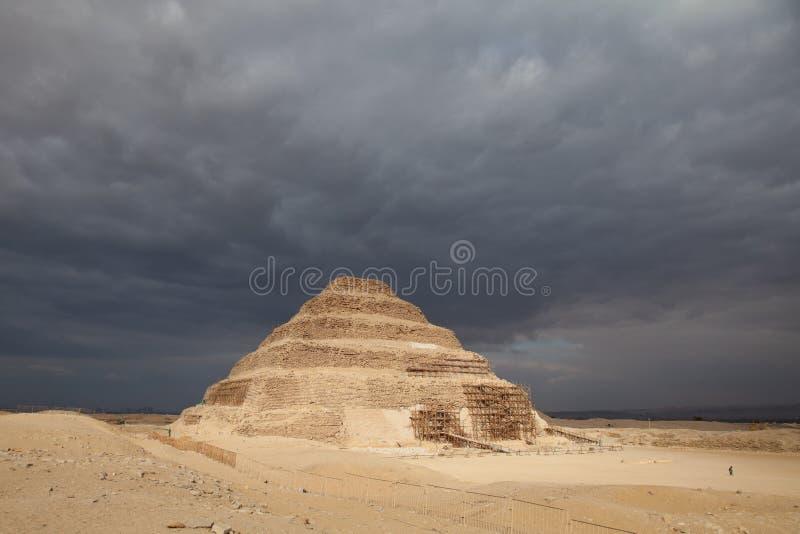 Saqarra, pirámide del paso de progresión de Zoser imágenes de archivo libres de regalías