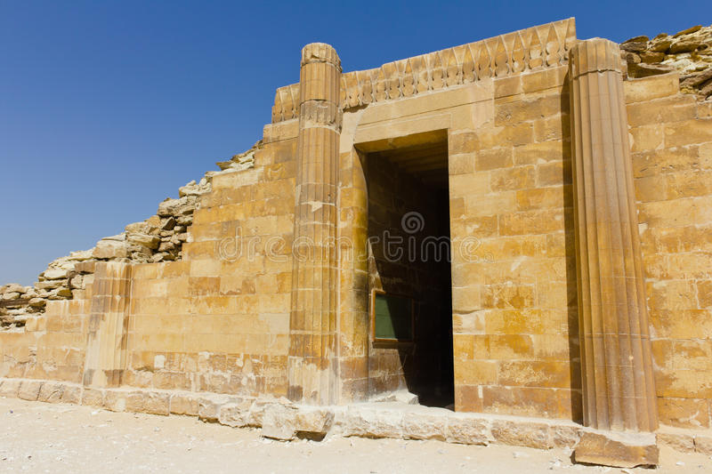 Download Saqqara house entrance stock image. Image of tomb, famous - 18979243