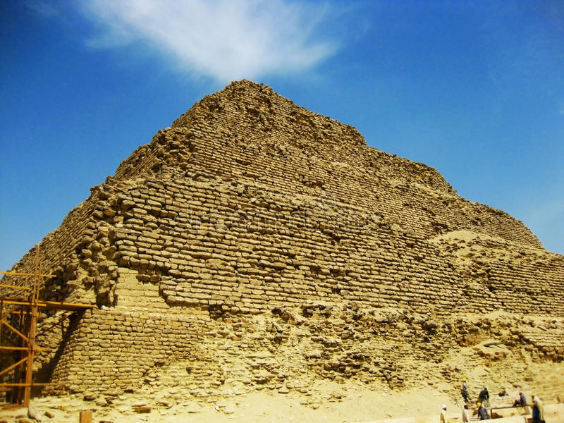 Saqqara-Pyramide, Ägypten lizenzfreies stockfoto