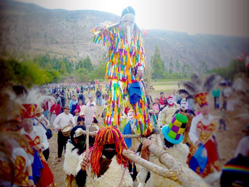 Saqra Pablo im religiösen Fest des Cusco-Tales stockfotografie