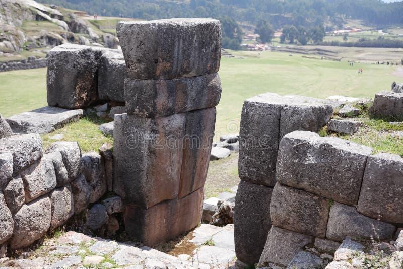 Saqsaywaman, site archéologique, Pérou image libre de droits