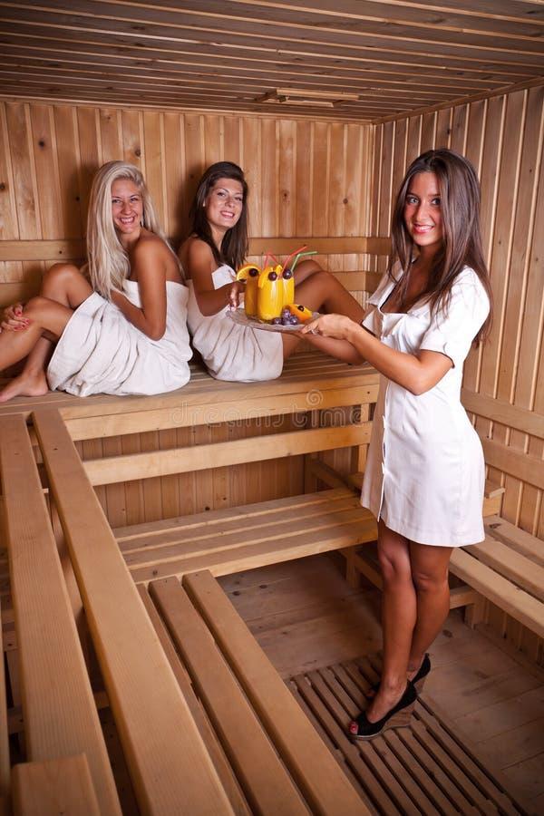 Saque da sauna foto de stock