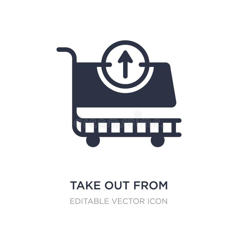saque del icono del carro en el fondo blanco Ejemplo simple del elemento del concepto del comercio ilustración del vector