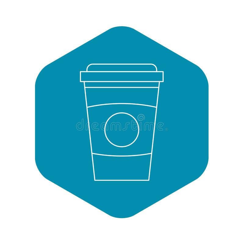 Saque el icono de la taza de caf?, estilo del esquema libre illustration