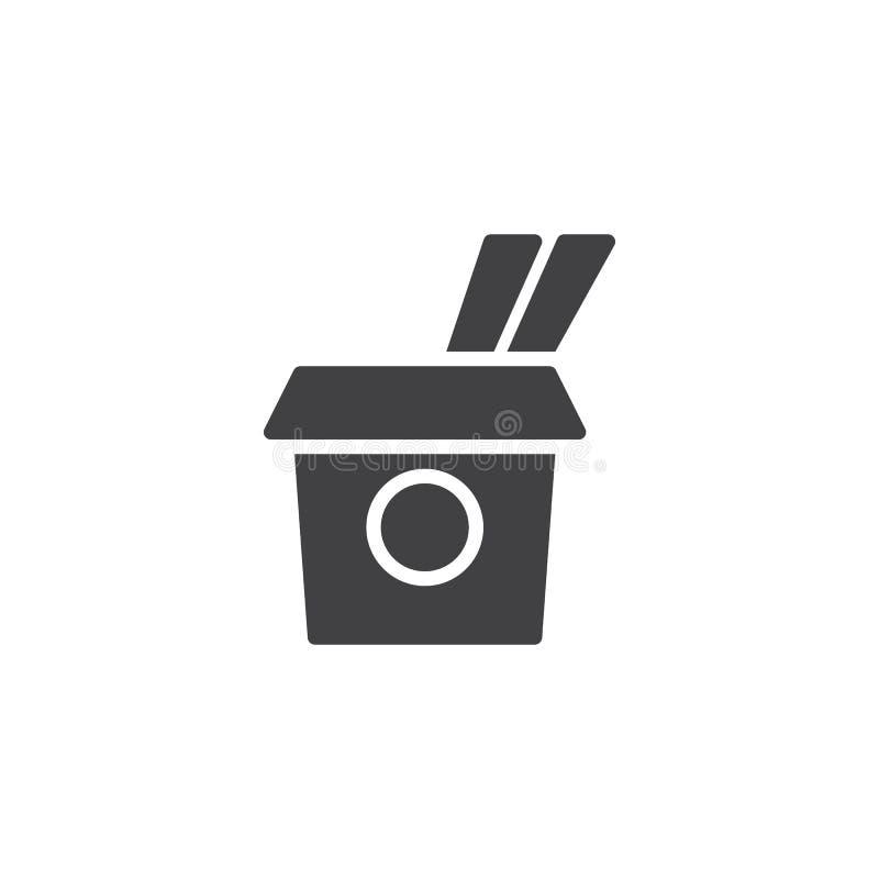 Saque el icono del vector de la caja stock de ilustración