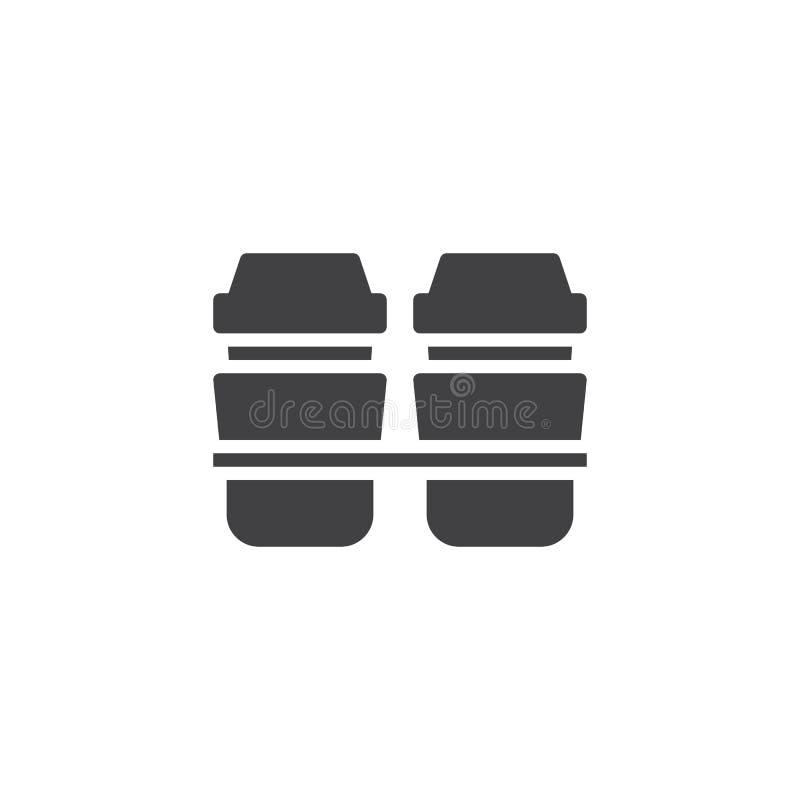 Saque el icono del vector de la taza de café stock de ilustración