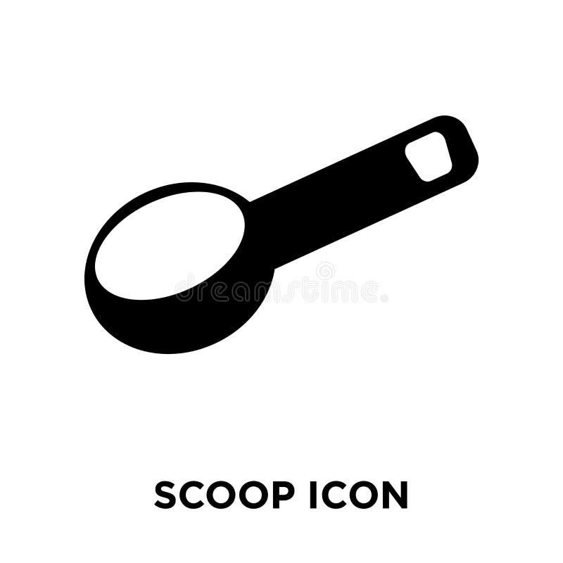 Saque el vector del icono con pala aislado en el fondo blanco, concepto del logotipo de ilustración del vector