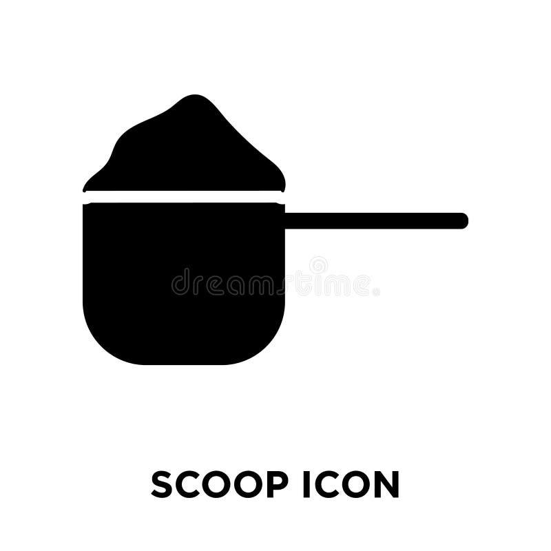 Saque el vector del icono con pala aislado en el fondo blanco, concepto del logotipo de stock de ilustración