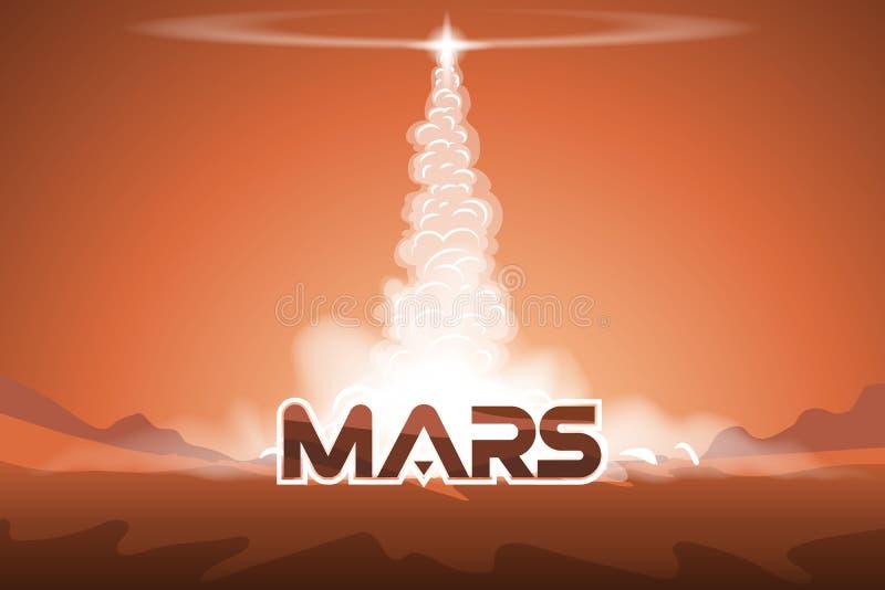 Saque la lanzadera de Marte stock de ilustración