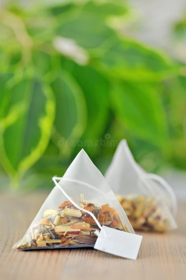 Saquinhos de chá imagem de stock