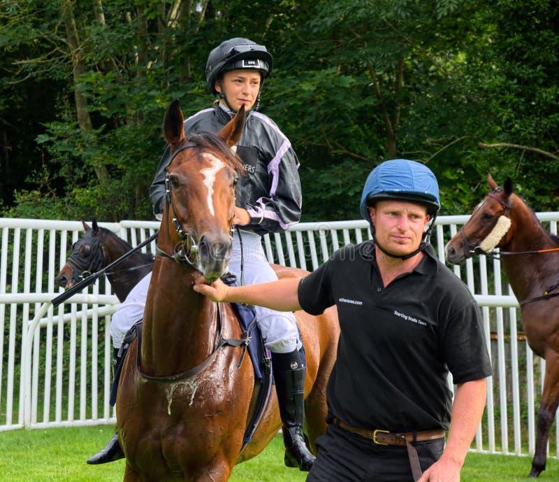 Sara Del Fabbro, italienischer Lehrlingspferderennen Jockey lizenzfreies stockbild
