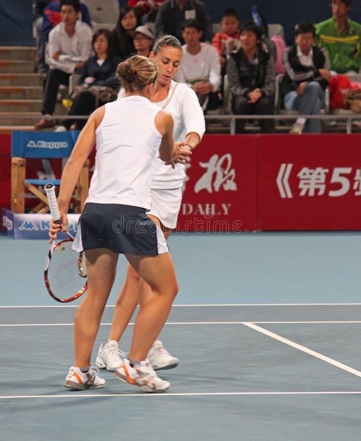 Download Sara Errani (ITA) And Flavia Pennetta (ITA) Editorial Stock Photo - Image of match, championship: 11694148