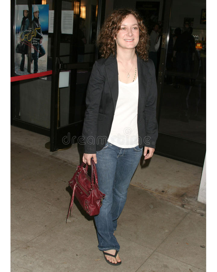 Sara Gilbert. 'How to Go On a Date In Queens' LA Screening Laemmle's Music Hall Beverly Hills, Ca July 28, 2006 royalty free stock photo