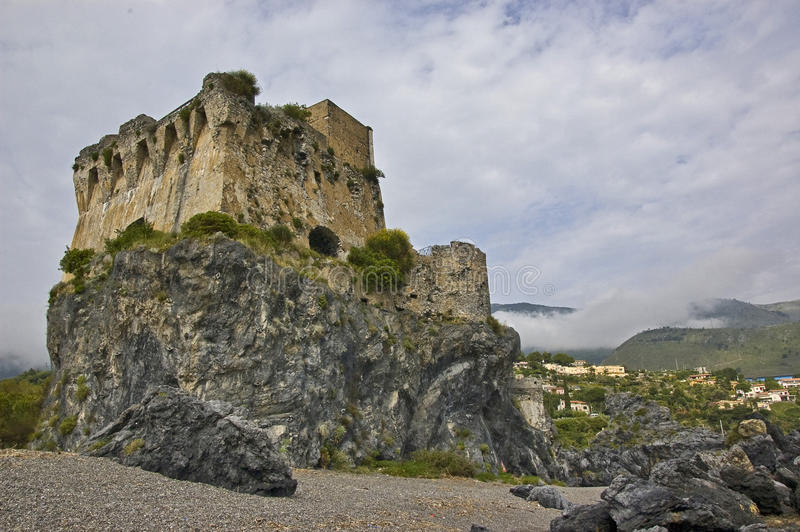 Saracen watch tower. In south of italy stock image
