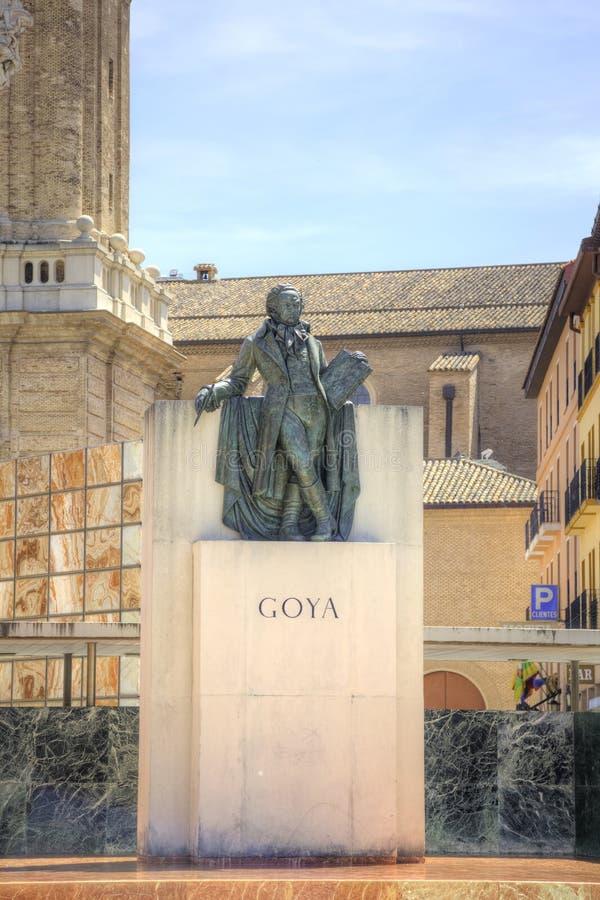 saragossa Monumento a Francisco Goya fotografía de archivo libre de regalías