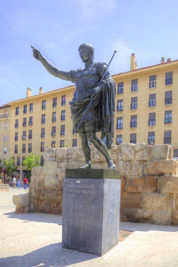 saragossa O imperador romano Caesar Augustus imagens de stock