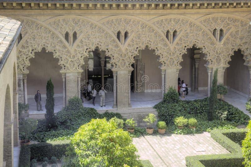 saragossa Palácio de AljaferÃa fotografia de stock