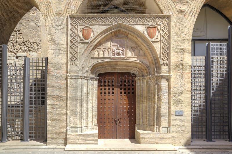 saragossa Palácio de AljaferÃa imagens de stock royalty free