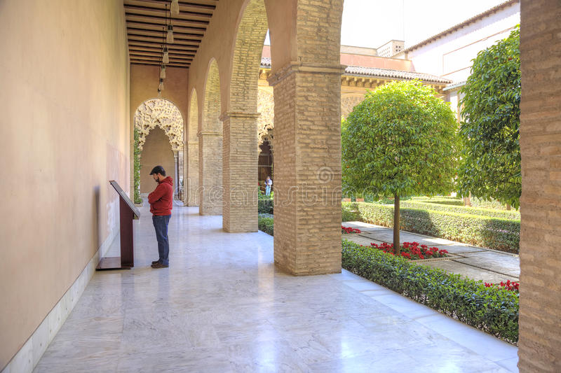 saragossa Palácio de AljaferÃa foto de stock
