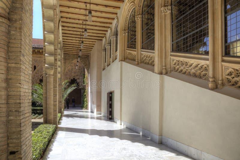saragossa Palácio de AljaferÃa imagens de stock